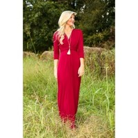 The Story of Us Maxi Dress-Crimson