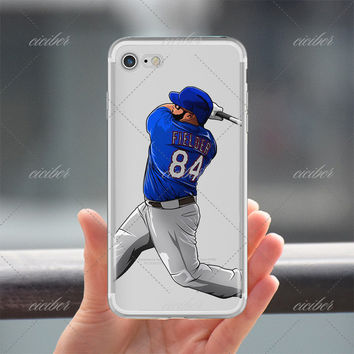 Fielder Baseball Clear Phone Case for ALL iPhone 7 7Plus 6 6s Plus 5 5s SE