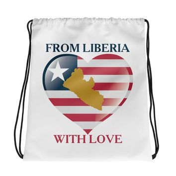 From Liberia Drawstring bag