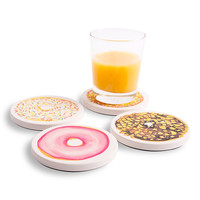Absorbent Coasters with Delectible Donut Designs from Coastermatic