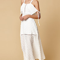 LIONESS Sway With Me Ruffle Cold Shoulder Dress at PacSun.com