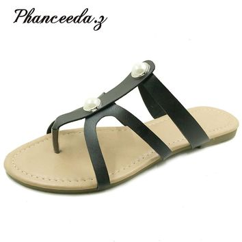 New Shoes Women Sandals Solid Summer Style Casual slippers Fashion Flip Flops High Quality Woman flats Free