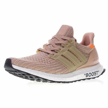 """Virgil Abloh OFF WHITE x Adidas Ultra Boost UB 4.0 Boost Running Shoes Sneaker """"OW Pink""""BB6309"""