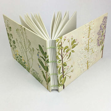 Wedding guest book, Garden Journal, Notebook planner, Journal Notebook, Botanical Sketchbook, Floral Journal, Sketchbook, Garden Notebook