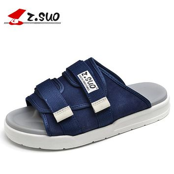New Summer Mens Slippers Shoes Black Flip Flops Men's Flat Beach Slippers Outdoor Massage Casual Sandals Slippers