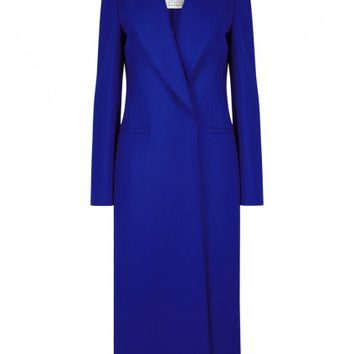 Cobalt wool and cashmere blend coat - Women - New In