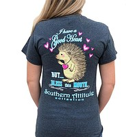 Country Life Southern Attitude Bless This Mouth Hedgehog T-Shirt