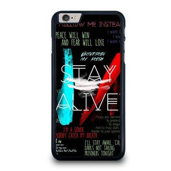 twenty one pilots stay alive iphone 6 6s plus case cover  number 1