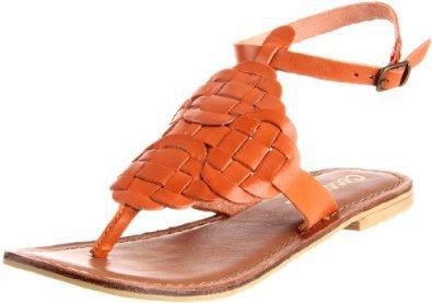 Coconuts by Matisse Women's Caesar Ankle-Strap Sandal,Orange,10 M US