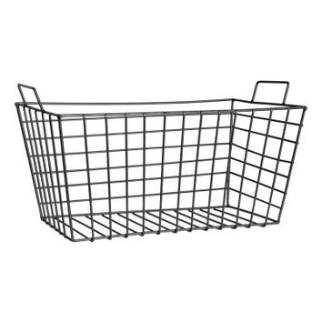 Large metal wire basket - Black - | H&M US