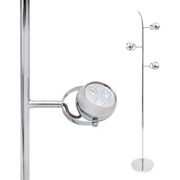 Trilita LED Floor Lamp Chrome