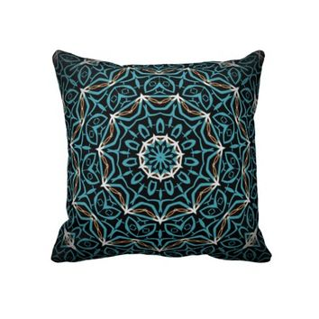 turquoise and brown pillow from Zazzle.com