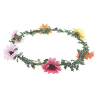 Multicolored Daisy Crown | Wet Seal