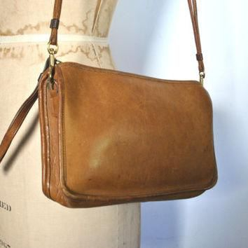 Coach Bag Satchel / British tan brown leather