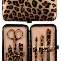 Manual Gold Leopard Purse Sized Manicure Set:Amazon:Home & Kitchen