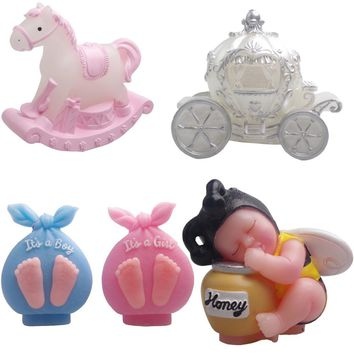 3D Pumpkin Carriage Carousel Silicone Candle Mold Birthday Wedding Fondant Cake Decorating Bee Baby Chocolate Clay Soap Molds