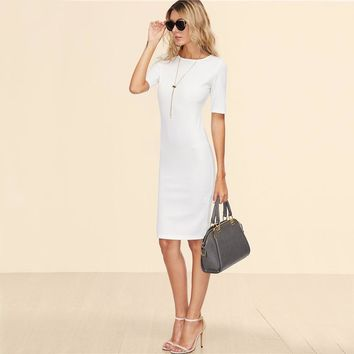 Bahira White Pencil Dress