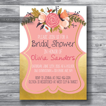 Printable,Bridal Shower Invitation, WEDDING SHOWER INVITE, Rustic bridal shower invitation, bridal invitation, bridal shower, Wedding Shower
