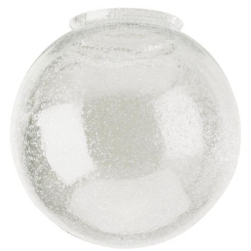 3-1/4-Inch Handblown Clear Seeded Glass Globe