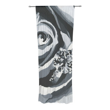 """NL Designs """"Happy Engagement"""" Gray White Decorative Sheer Curtain"""