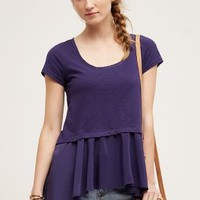 Scoopneck Peplum Tee by Anthropologie