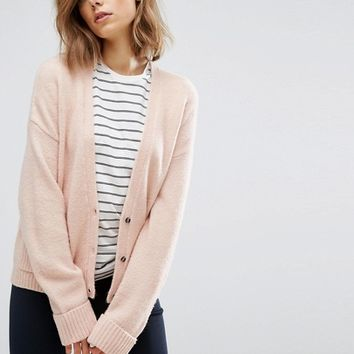 ASOS Cardigan in Wool Mix with Pockets at asos.com