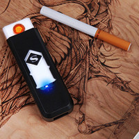 2017 Portable USB Rechargeable Lighter No Gas Fuel Windproof Flameless Cigarette Free Shipping EH183