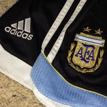 Sale!! Vintage Adidas ARGENTINA National Team Soccer Shorts Football Jersey Messi Shir