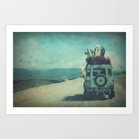 NEVER STOP EXPLORING II Art Print by Monika Strigel
