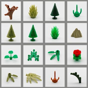 LegoINGly Friends City Jungle Figure Accessory Part Building Blocks Brick Plant Tree Grass Military MOC Educational Toy Children