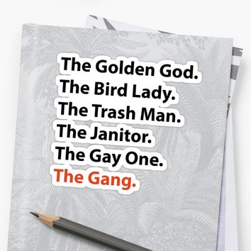 'Always Sunny - The Gang' Sticker by Jack Allan