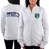 Seattle Seahawks Women's French Terry Lightweight Full Zip Jacket – Gray