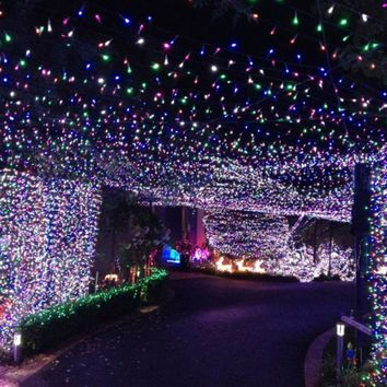 12M100 LED Outdoor  Colorful Solar Lamp LED String Lights Fairy Holiday Christmas Party Garlands Solar Garden Waterproof Lights