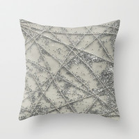 Sparkle Net Throw Pillow by Project M