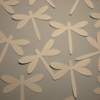 White Dragonfly die cuts-Wedding Die Cuts-set of 16,  2 inch size, great for weddings, parties, showers