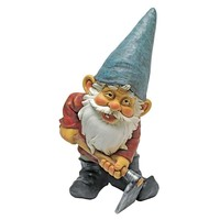 SheilaShrubs.com: Bulldoze, The Garden Gnome Statue QM24337001 by Design Toscano: Gnomes