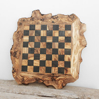 Father's Day Gift, 20-Inch Rustic Wooden Chess Board Set, Engraved Chess Set Board Game, Dad gift, Boyfriend Gift, Birthday Gift