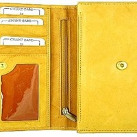Ladies real leather wallet style - 2547cf, Tan