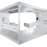 All-in-one Kitchen FUTURISTIC KITCHEN Ora Ito White Collection by Gorenje KÖRTING Italia | design Ora- Ïto