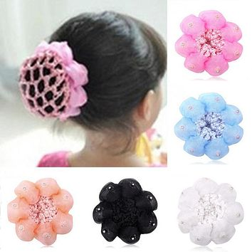 2017 Top Baby Child Dance Flower Balls Hair Net Involucres Large Hairnet Hair Accessories Beauty Tools