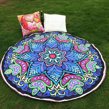 Hippie Round Mandala Tapestry Indian Blanket Boho Beach Throw Towel Yoga Mat Home Room Decoration