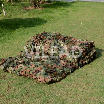 VILEAD 7M x 7M (23FT x 23FT) Woodland Camo Netting Military Army Camouflage Net Party Decoration Sun Shading Tent Beach Tarp