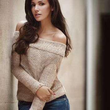 Lipsy Love Michelle Keegan Chunky Bardot Knit Jumper
