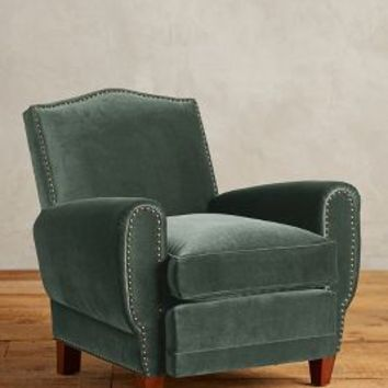 Velvet Nailhead Clairmont Chair by Anthropologie