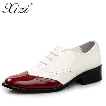 XIZI brand Business Dress Men Formal Shoes Male Wedding Pointed Toe Fashion Microfiber Leather Shoes Flats Oxford Shoes For Men