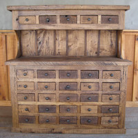 Reclaimed Wormy Chestnut MultiDrawer Hutch by 2ndCenturyFurniture