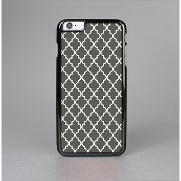 The Gray & White Seamless Morocan Pattern Skin-Sert Case for the Apple iPhone 6