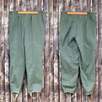 89a0ced1e89 Vintage military trousers man s Bulgarian army trousers field tr