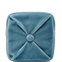 Charlotte Olympia Square Cushion Pouch Blue