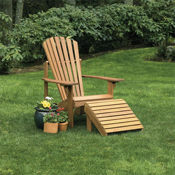 Craftsman Adirondack Chair and Ottoman at Jackson and Perkins